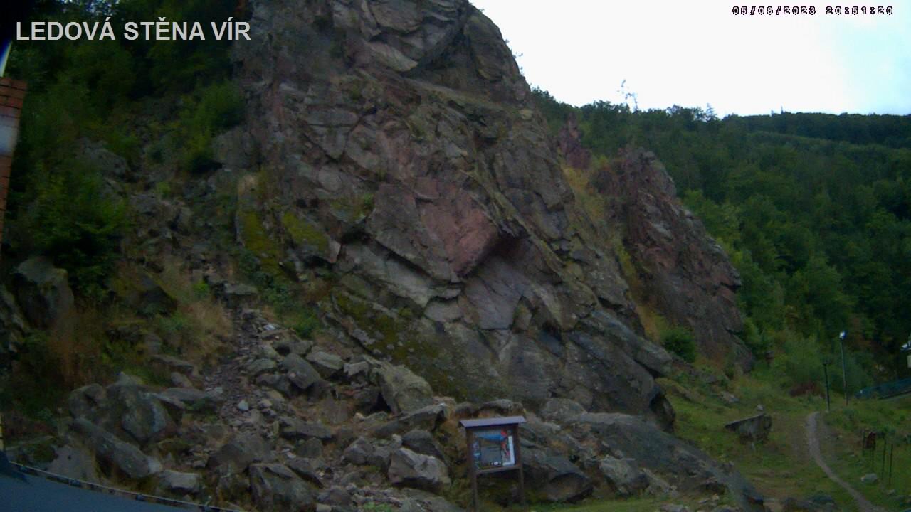 Webkamera Ledová stěna Vír